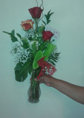 Just Because Assorted Roses arrangement
