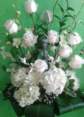 Just Beacuse All White Floral arrangement