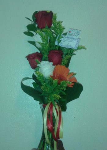 Just Because Roses and Gerberas small arrangement