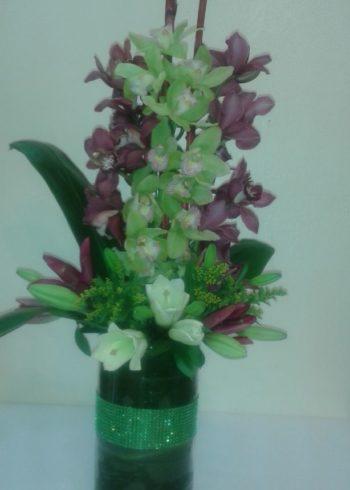 Just because Dendrobium Orchid floral arrangement