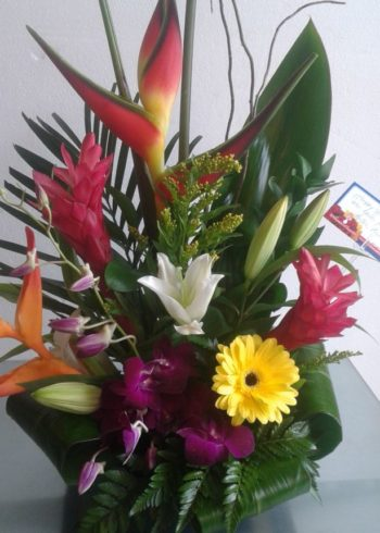 Tropical birthday flowers
